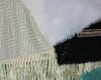 Evening shawls and wraps - wool and lurex  - 3 to choose from
