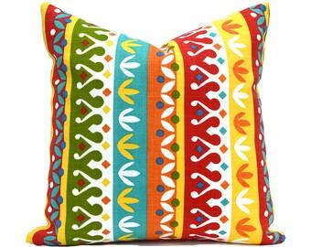 Outdoor Pillows Outdoor Pillow Covers Decorative Pillows ANY SIZE Pillow Cover Turquoise Pillows Richloom Outdoor Cotrell Garden