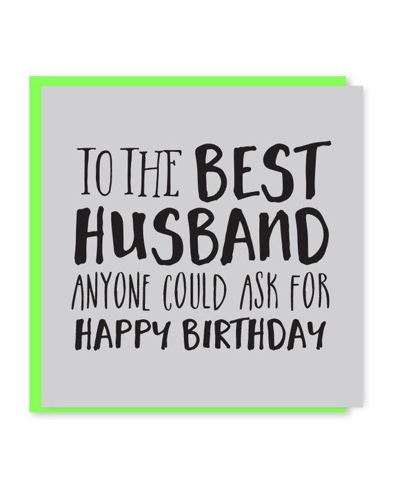 Best husband card husband birthday card happy birthday to like this item bookmarktalkfo Images
