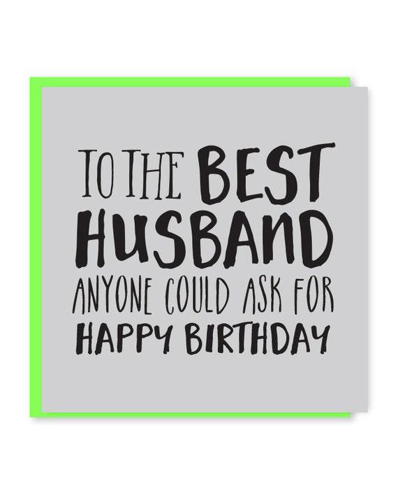 Best husband card husband birthday card happy birthday to like this item bookmarktalkfo Choice Image