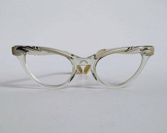 NOS, Vintage 1950s Imperial Optical Cat Eye Eyeglasses