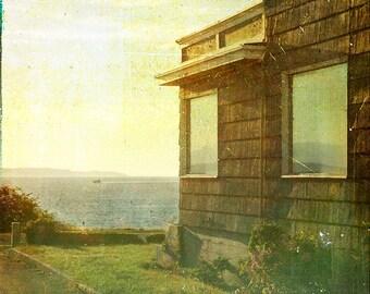 Yellow Green Beach House Photograph--The Summer House--TTV Fine Art Photograph