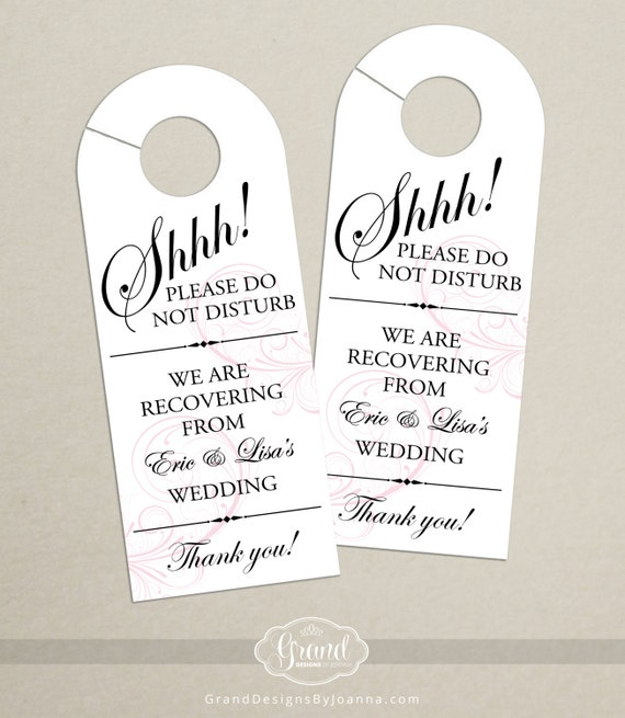 Set Of 10 Classic Swirl Door Hanger For Wedding Hotel