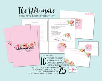 The Original Ultimate Sorority Recruitment Recommendation Kit - Sorority Rush Package