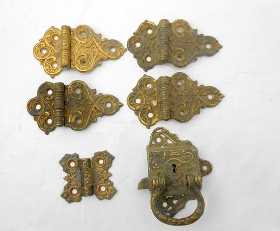 Antique door hinges ornate brass door hinges antique brass lock antique  butterfly hinge 1897 door hinges and lock architectural salvage from ... - Antique Door Hinges Ornate Brass Door Hinges Antique Brass Lock
