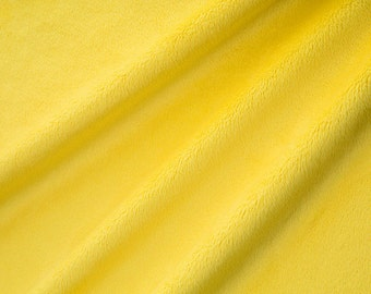 Solid Cuddle Minky Fabric by Shannon Fabrics, Canary Yellow