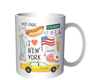 I Love New York Funny Novelty New Mug k96