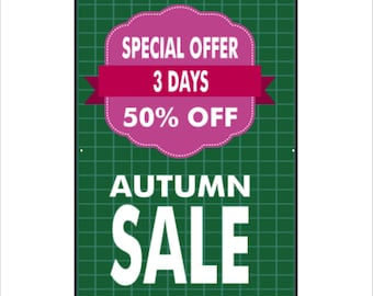 Autumn Sale Vinyl Banner