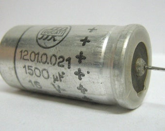 Electrolytic vintage capacitor 1500uF 16V