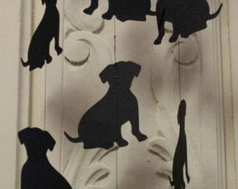 Black Lab Garland. 12 hanging black labradors, Paper Garland, Birthday Party Garland