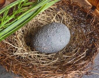 Decorative egg in granite look-artist plaster-gift-