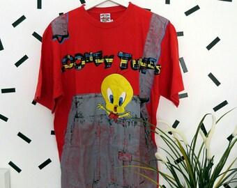 Vintage 90's Looney Tunes Tweety  shirt size L