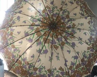 Vintage Floral Umbrella