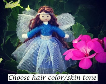 Fairy Doll  - Fairy Wings - Fairy Garden - Tiny Fairy - Bendy Doll - Flower Fairy - Star Fairy