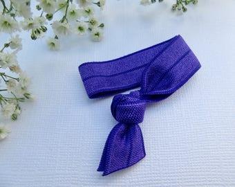 Royal purple elastic hair tie | hair elastic | hair bobble | bohemian bracelet