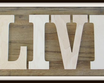 """Special Offer - 10"""" Block Font ALL CAPS Wall Letters - Unpainted Wood - Gifts and Decor for Nursery, Home, Playrooms, Dorms - 3/8"""" thickness"""