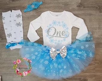 Winter Onederland Birthday Outfit, Frozen Birthday, Winter First Birthday Outfit, Winter Onederland Outfit, Baby Girl 1st Birthday Outfit