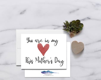 In my heart,  Grief, Encouragement Card, Mothers Day Card, Mothers's Day, Miscarriage