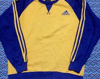 vintage ADIDAS sweatshirt..oren colour..hip hop swag raptees..nice condition