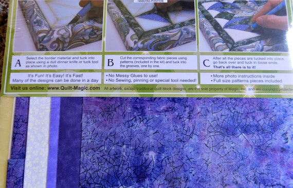 Quilt Magic, Starburst, No Sew Wall Hanging Kits, Quilting, Sewing