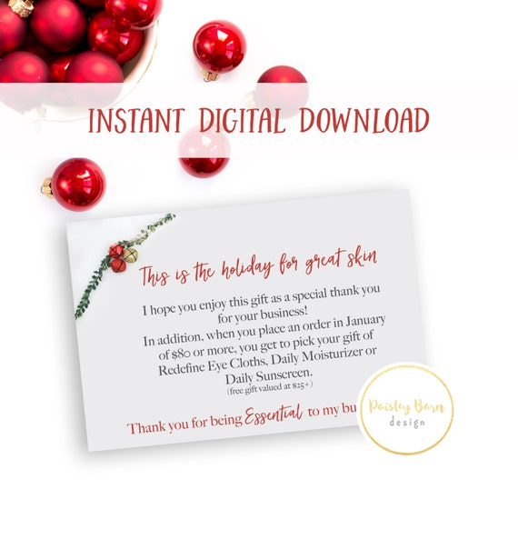 "INSTANT DOWNLOAD ""Thank you for being Essential to my business!"" NOTECARD 
