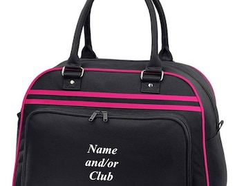 PERSONALISED RETRO Bowls Bag Bowling Printed with Club and/or Name Custom Customised
