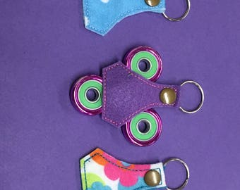Set of thee Fidget Spinner Toy Keychain Fob Accessory, Gifts under 5, white elephant gift, christmas gift, stocking stuffer, chi