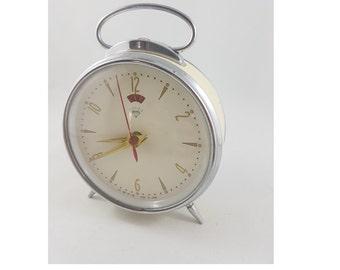 Vintage Wind Up Alarm Clock, Mid Century Alarm Clock, Mad Men, MCM, Collector
