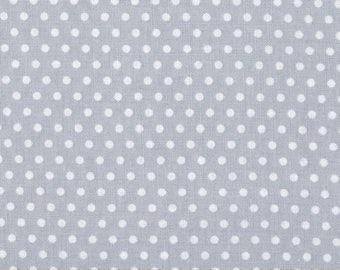 White dots on light grey , crib sheet, fitted baby crib sheet