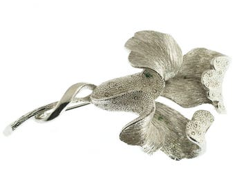 Coro Iris Flower Brooch