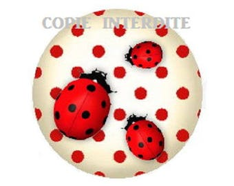 cabochon ladybirds 18mm