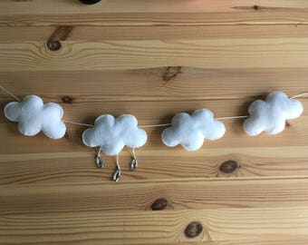 Drops jewelry and felt cloud Garland