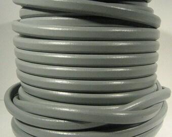 Regaliz Licorice Leather - Light Grey - R12 - Choose Your Length