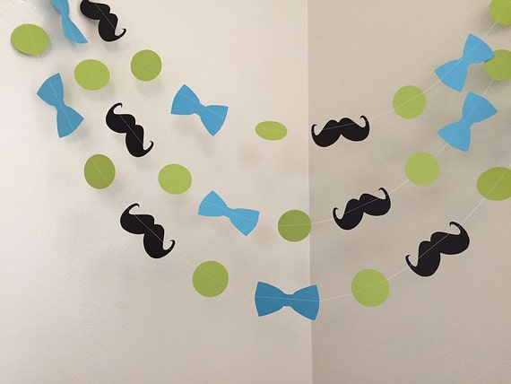 Mustache And Bowtie Little Man Baby Shower Decorations