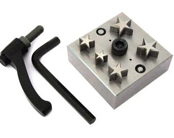 Disc Cutter 13mm to 25mm With 5 Punches For Star Shapes With Handle