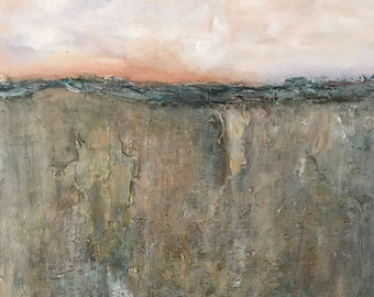 Rustic Fields Abstract Acrylic Painting