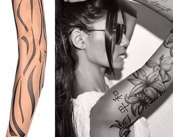 Fake Tattoo Sleeves Nylon Elastic