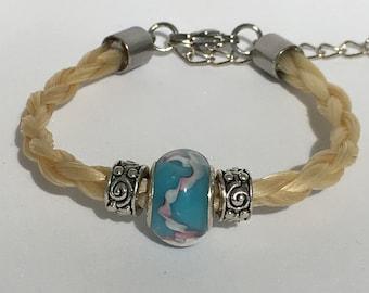 Horse hair, horse, horse hair, horse hair bracelet bracelet bracelet, memory horse, equestrian jewelry, women bracelet braided bracelet