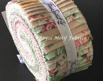 "Free Spirit - Autumn Grace Design Roll /Jelly Roll by Verna Mosquera - 40, 2.5"" x 42"" Precut Fabric Strips"