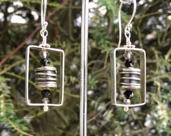 EarDangles: Hilltribe Silver , Bali Silver, Sterling Silver, Swarovski Crystal