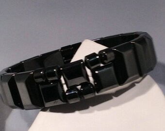 Magnetic Hematite Men's Bracelet 4 Relief Of Chronic Pain & Stiffness