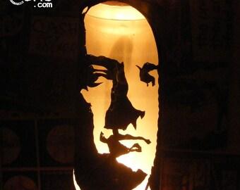 Tony Soprano Beer Can Lantern: James Gandolfini, The Sopranos Pop Art Candle Lamp - Unique Gift!