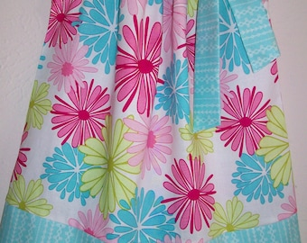 Pillowcase Dress Floral Dress with Flowers Girls Dresses Toddler Girl Clothes with Flowers Baby Girl Dress Sister Dresses Toddler Sundresses