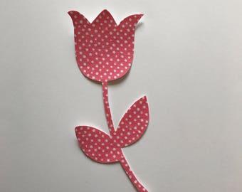 Tulip iron on applique - tulip applique - tulip iron on