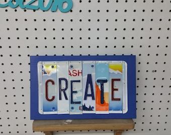 License Plate Sign License Plate letter Art Picture Home Deco Create License Plate Letter Sign License Plate Art