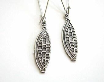 corn on the cob earrings . GBR Nebraska Cornhuskers jewelry . choose short or long . surgical steel earrings