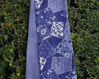 KiMonoMono cotton scarf indigo blue 3