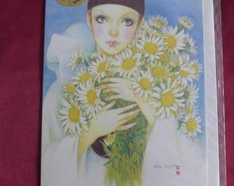 Vintage Pierrot Love / Mira Fujita / Editions Michel Oks / Greeting Card