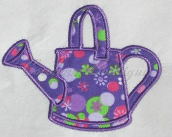 embroidery applique Watering can