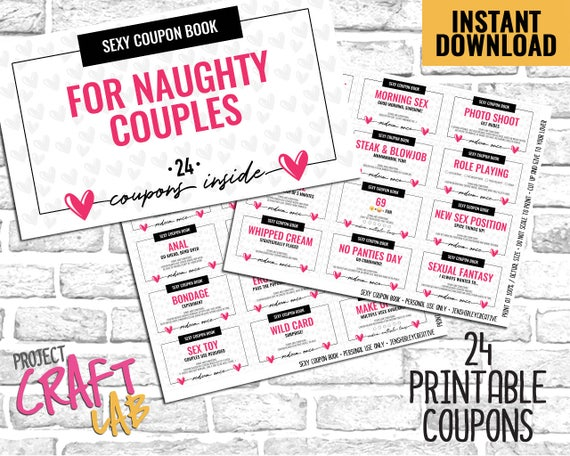 Sexy Coupon Book, Naughty Coupons, Love Coupons, Sexy Coupons, Anniversary  Gift, Birthday Gift, Valentines Gift, Sex Coupons, Printable, PDF
